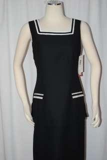 TWO TONE BLACK SQUARE NECK SAILOR DRESS WOMEN SZ 8 NWT $89.99