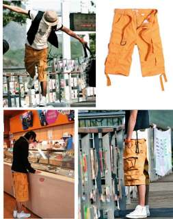 Athletic Casual Cargo Capri Pirate Bermuda Shorts Short Sport Pants