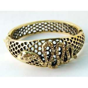 Antique Inspire Gold Tone Slither Snake Filigree Fashion