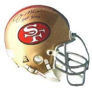 Joe Montana San Francisco 49ers Hall of Fame 2000 Autographed Mini