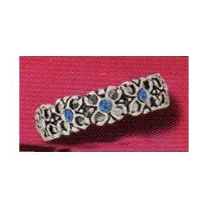 Sterling Silver Sapphire Crystal Flower Toe Ring