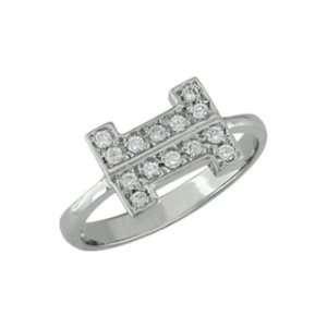 Fran   size 4.25 14K White Gold Diamond Ring: Jewelry