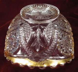 EAPG Antique ETTA GLASS BOWL Paden City Glass Nice (O)