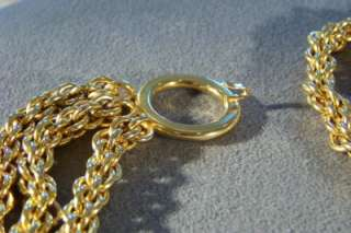 VINTAGE RARE YELLOW GOLD TONE PALOMA PICASSO MULTI CHAIN WOVEN LINK