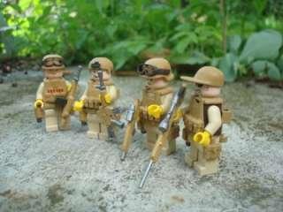 CUSTOM LEGO MINIFIGS US ARMY FIRE TEAM DESERT CAMO
