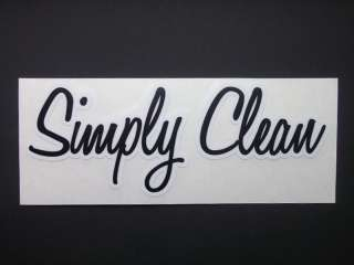 am Simply Clean diecut die cut decal bumper sticker