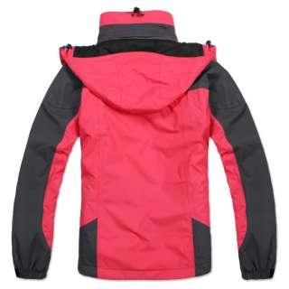 Women 2 in 1 waterproof jacket fleece ski coat windcheater breathable