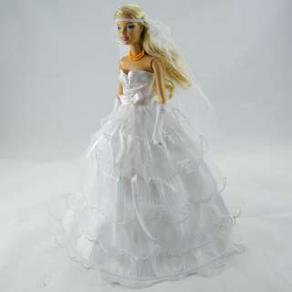 New Princess Wedding Clothes Party Dress Gown for Barbie doll 012YA