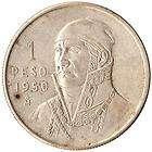 1950 Mexico 1 Peso Large Silver Coin Jose Morelos KM#457