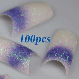 30 Different Stunning Glitter Designs French False Nail Art Tips NEW