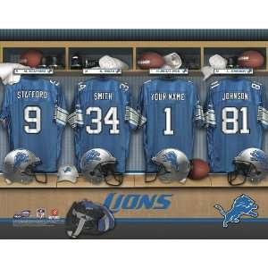 Personalized Detroit Lions Locker Room Print Sports
