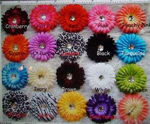 Gerber Daisy Flowers w/CLIP  WHOLESALE LOT 18 COLORS