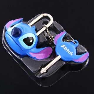 Lilo & Stitch Cartoon Mini Pad Lock With Key Safety