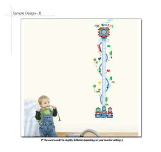 THOMAS & FRIENDS Train Growth Chart Wall Stickers Kids