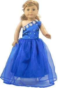 1PC Doll Clothes Blue party dress outfit suit for 18 american girl