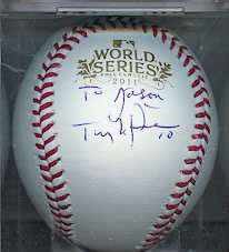 LaRussa signed Baseball St Louis Cardinals WS World Series 2011