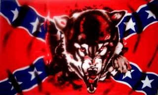 Rebel Wolf Confederate Southern Pride USA 3x5 Flag NEW
