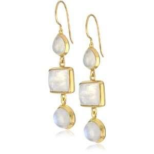 Wendy Mink Allure Moonstone Triple Set Earrings: Jewelry