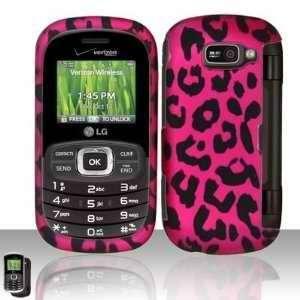 LG Octane VN530 (Verizon) Hot Pink Leopard Skin Design Premium Phone