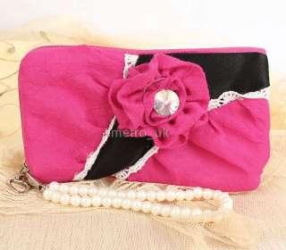 Fashion flower mobile phone handy MP4 / pouch bag case