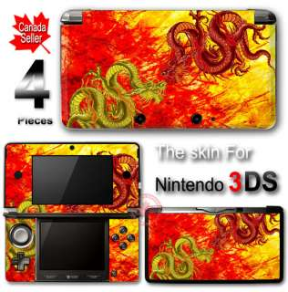 Cool Dragon SKIN VINYL STICKER DECAL COVER for Nintendo 3DS