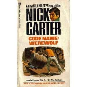 Killmaster Code Name Werewolf Nick Carter Books