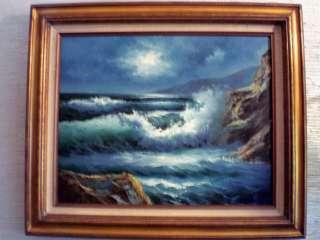 VTG ORIGINAL CALIFORNIA SEASCAPE PAINTING BY STEVENS