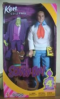 Scooby Doo Ken as Fred Barbie Doll, Brand New, Never Removed From Box
