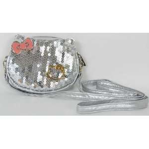 Hello Kitty Sparkle Shoulder Bag Coin Purse Silver Health