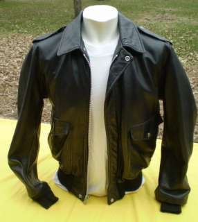 Vintage SCHOTT Black Leather Jacket Motorcycle