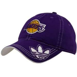 adidas Los Angeles Lakers Purple Cut Out Adjustable Hat