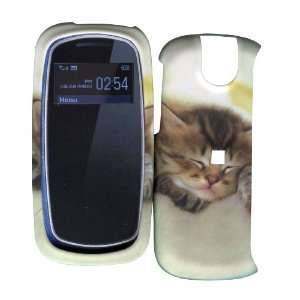 Cute Kitty Cat Pantech Impact P7000 Hard Case Snap on Rubberized Touch