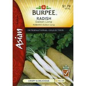 69645 Asian   Radish Daikon Long Seed Packet Patio, Lawn & Garden