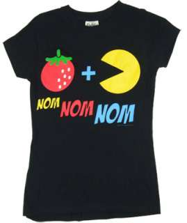 Nom Nom Nom   Pac Man Sheer Womens T shirt