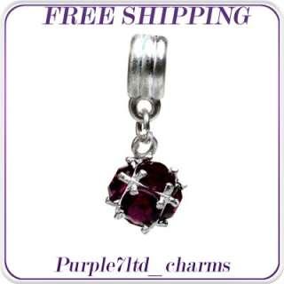 1pc silver crystal stone pendant for European bracelet beads charm