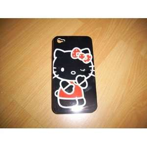 Iphone 4 Hello Kitty Hard Black Case Cover ~Ship From California~