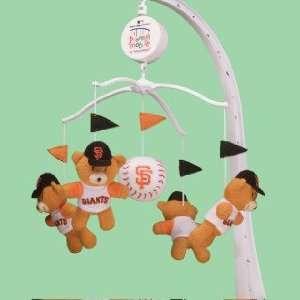 SAN FRANCISCO GIANTS Team Mascots Plush Baby MUSICAL BASEBALL MOBILE