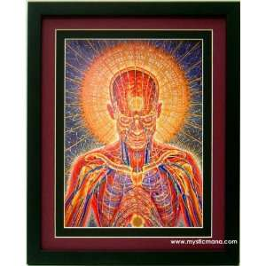 Praying By Alex Grey ,Framed & Double Matted 12x15: Home
