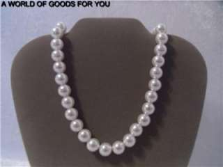 NEW DAVIDS BRIDAL LARGE WHITE FAUX PEARLS 21 23 NECKLACE JEWELRY W