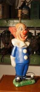 Vintage Bozo the Clown Lamp