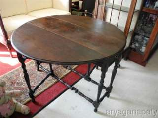 Gate Leg Table, Round Table, Mahogany, Dining Table, Sofa Table