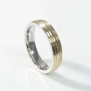 Stainless Steel Comfort Fit Wedding Band Round Face 15h