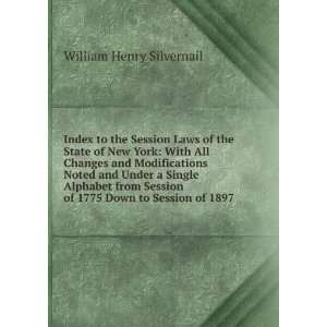 Index to the Session Laws of the State of New York With