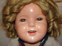 1930s IDEAL Composition 20 Shirley Temple Doll   Fur Coat/Hat   PIN