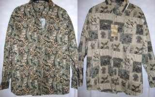 New~w/t Mens Rugged Earth Deer Quail Hunting XL Shirts
