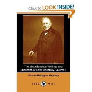 Dodo Press) (9781406529760) Thomas Babington Macaulay Books