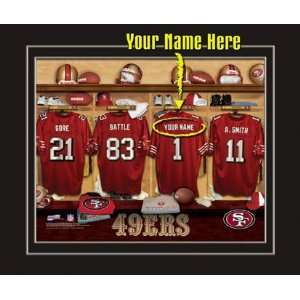 San Francisco 49ers Customized Locker Room 12x15 Matted