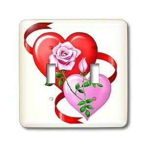 Dream Essence Designs Valentines Day   Red and pink hearts, red ribbon