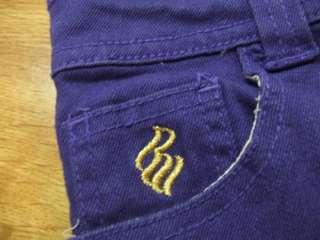 ROCAWEAR Purple Denim/Jean Stretch Shorts Girls 12
