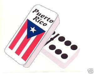 PUERTO RICO FLAG DOMINOS  STICKER, DECAL